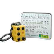 Llavero rotatorio alfabeto braille