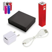 Set powerbank 2200 mAh con enchufe de pared USB
