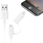 Cable usb con conversor micro usb a lightning